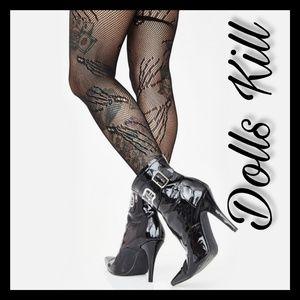 New! Dolls Kill Haunt Mess Zombie Tights!